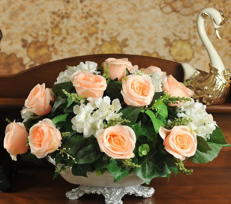 Trang trí nhà với hoa giả, hoa vải cao cấp